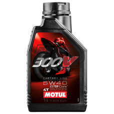 Óleo 300V FACTORY LINE ROAD RACING 4T 5W40 100% sintético 1L - MOTUL