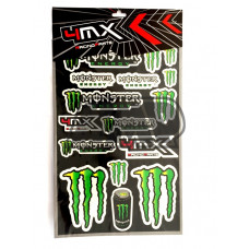 Autocolantes MONSTER ENERGY verde - 4MX